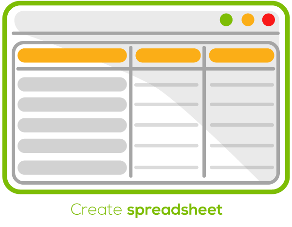 Create a spreadsheet