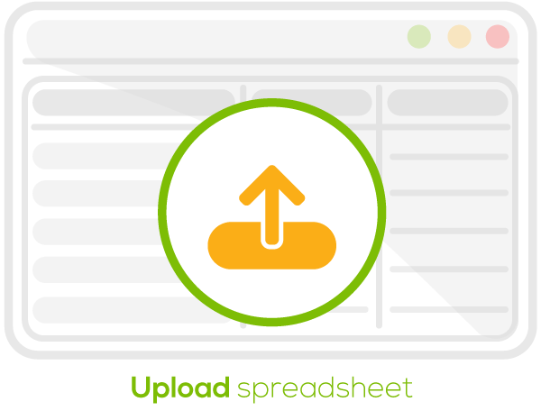 Upload the spreadsheet